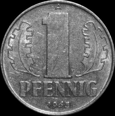 1 пфенниг 1963 A ГДР.