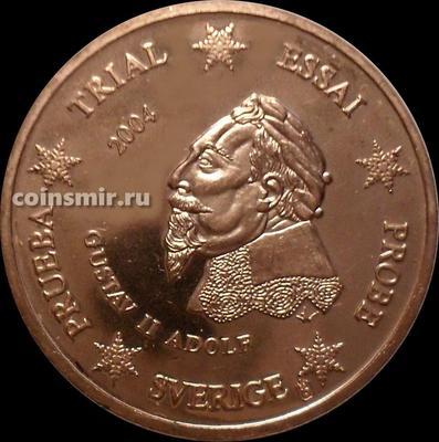 5 евроцентов 2004 Швеция. Европроба. Specimen. Король Густав II Адольф.