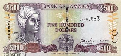 500 долларов 2009 Ямайка.