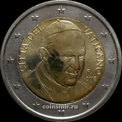 2 евро 2015 Ватикан. Регулярный чекан.