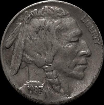 5 центов 1937 S США. Индеец.
