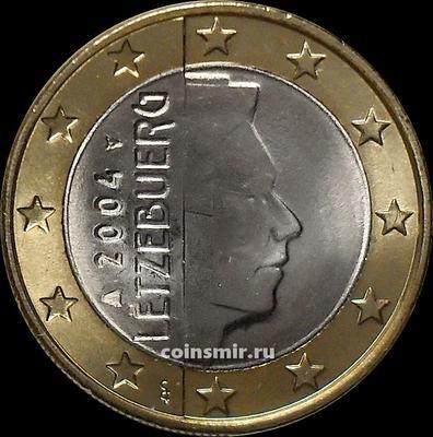 1 евро 2004 Люксембург. Великий герцог Люксембурга Анри (Генрих).