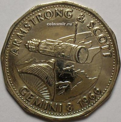 Жетон shell Армстронг и Скотт. Джемини-8 1966. Многогранник.