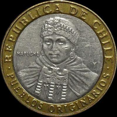 100 песо 2014 Чили.