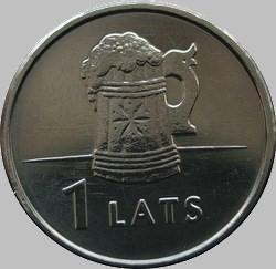 1 лат 2011 Латвия. Пивная кружка.