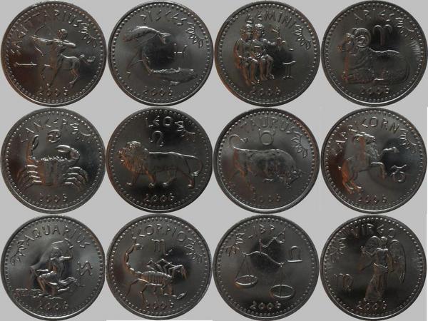 Набор монет 2006 Сомалиленд. Знаки зодиака.
