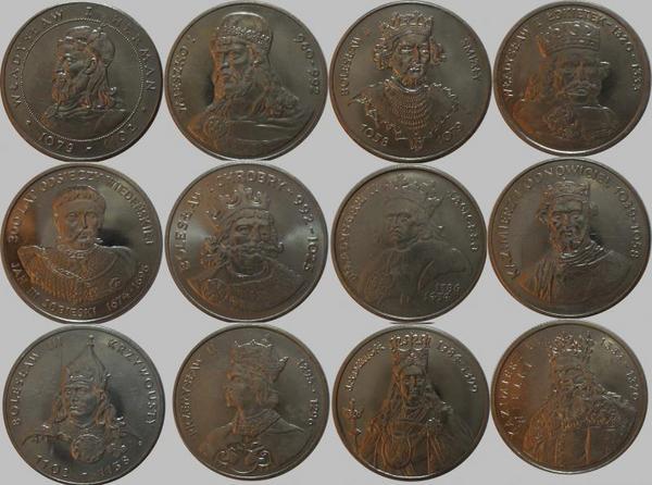 Набор из 12 монет  Польша. Короли.