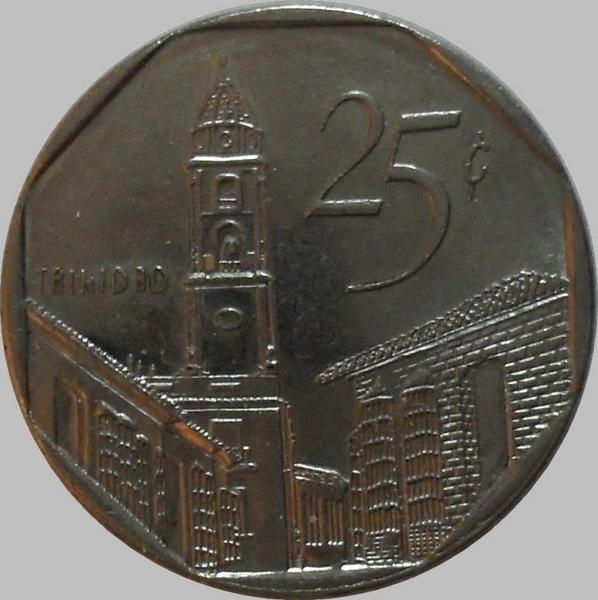 25 сентаво 2000 Куба. (в наличии 2008 год)