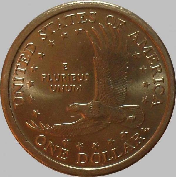 1 доллар 2000 Р США. Парящий орёл.