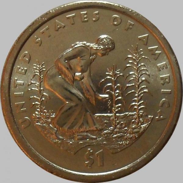 1 доллар 2009 D США. Посадка кукурузы.