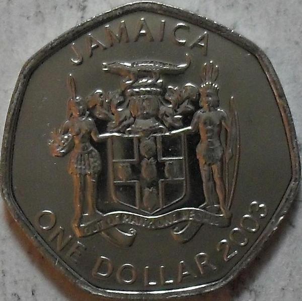 1 доллар 2003 Ямайка. Александр Бустаманте.