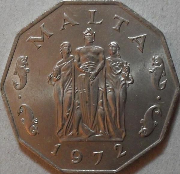50 центов 1972 Мальта.