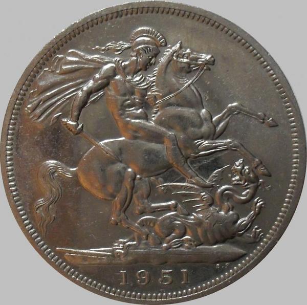 5 шиллингов (1 крона) 1951 Великобритания. Фестиваль.