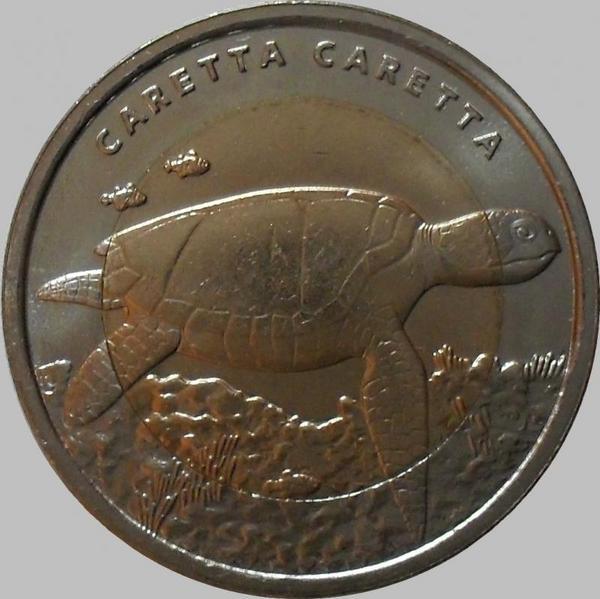 1 лира 2009 Турция. Черепаха.