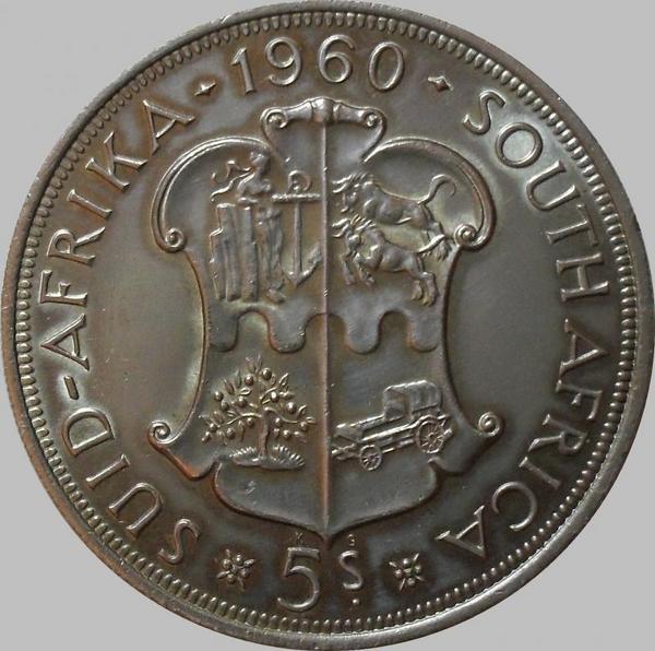 5 шиллингов 1960 ЮАР. 50 лет Южно-Африканскому союзу.