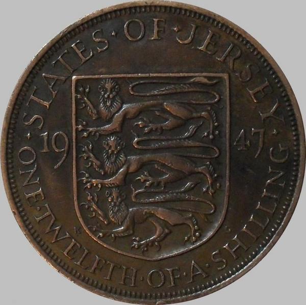 1/12 шиллинга 1947 Джерси.