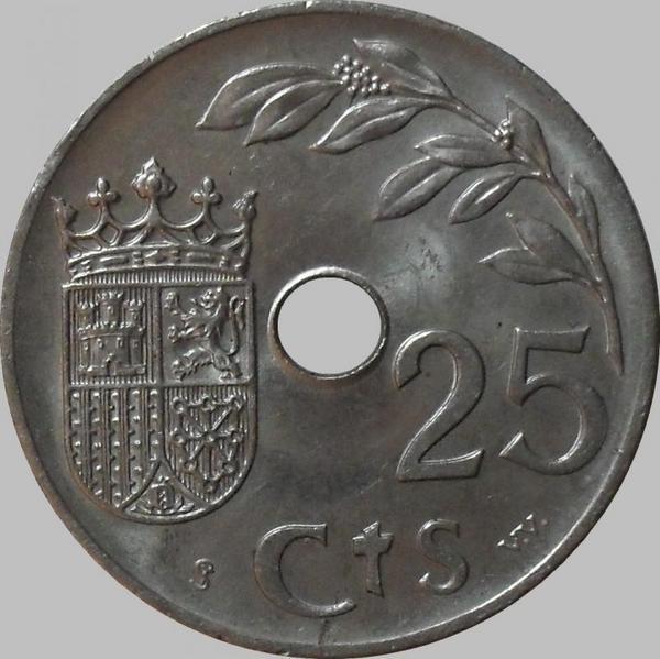 25 сантимов 1937 Испания.