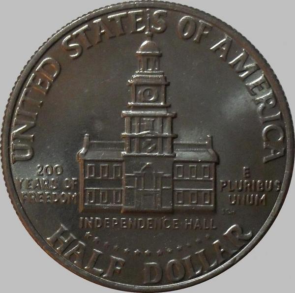 1/2 доллара 1976 D США. 200 лет независимости.