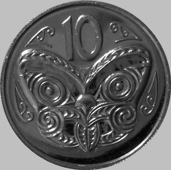 10 центов 1983 Новая Зеландия. Маска Маори.