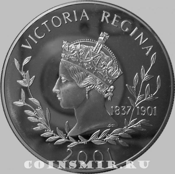 50 пенсов 2001 Фолклендские острова. Королева Виктория.