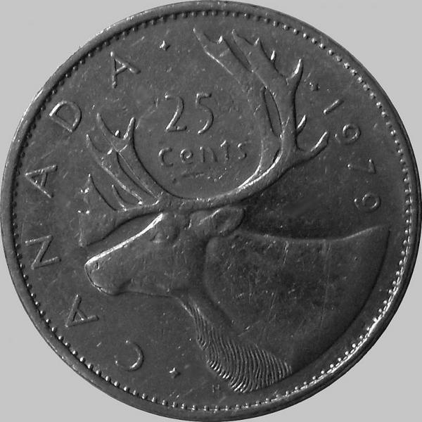 25 центов 1979 Канада. Северный олень.