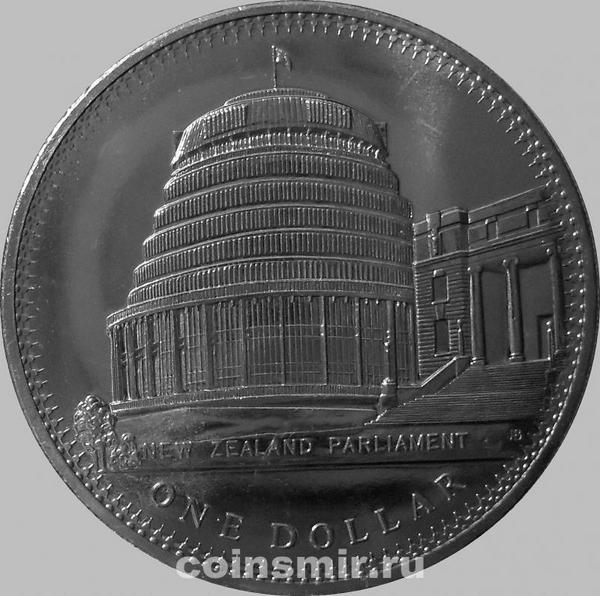 1 доллар 1978 Новая Зеландия. Здание Парламента.