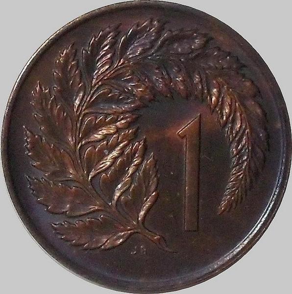 1 цент 1972 Новая Зеландия. (в наличии 1971 год)