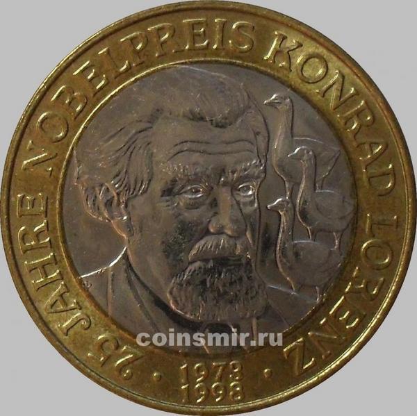 50 шиллингов 1998 Австрия. Конрад Лоренц. Буклет.