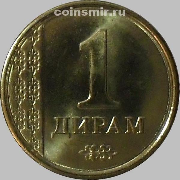 1 дирам 2011 Таджикистан.