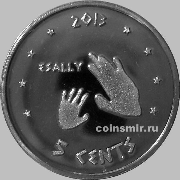 5 центов 2013 резервация Ла-Поста.