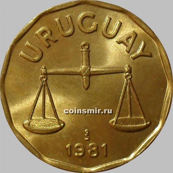50 сентесимо 1981 Уругвай. Весы.