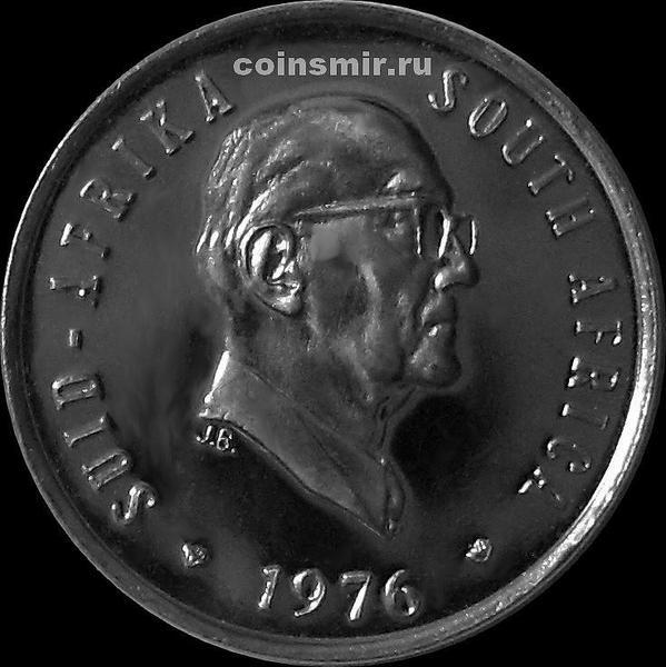 5 центов 1976 Южная Африка. Президент Фуше.