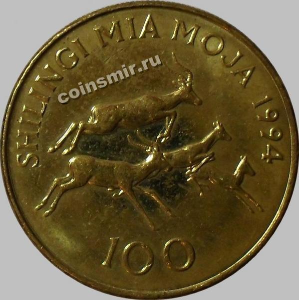 100 шиллингов 1994 Танзания.