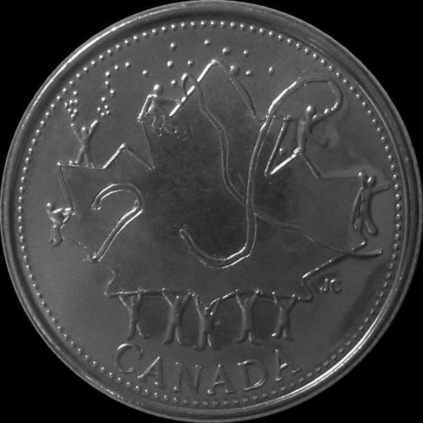 25 центов 2002 Канада. Юбилей правления.