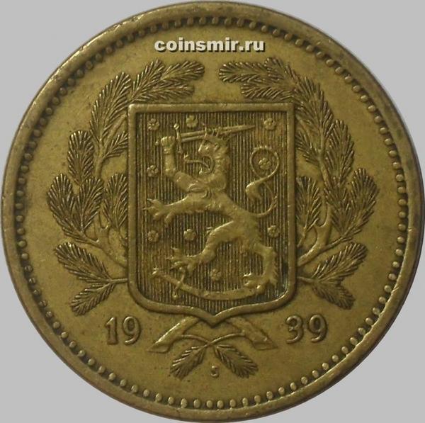 20 марок 1939 S Финляндия.