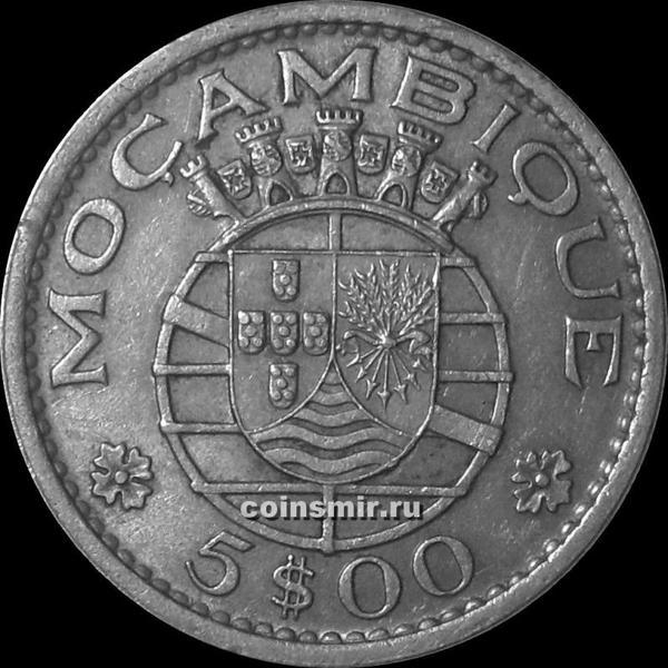 5 эскудо 1971 Португальский Мозамбик.