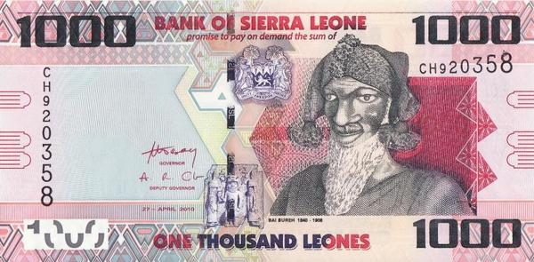1000 леоне 2010 Сьерра-Леоне.