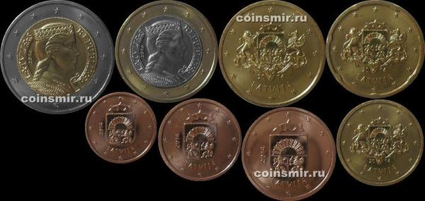 Набор евро монет 2014 Латвия.
