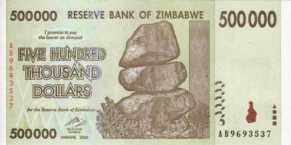 500000 долларов 2008 Зимбабве.