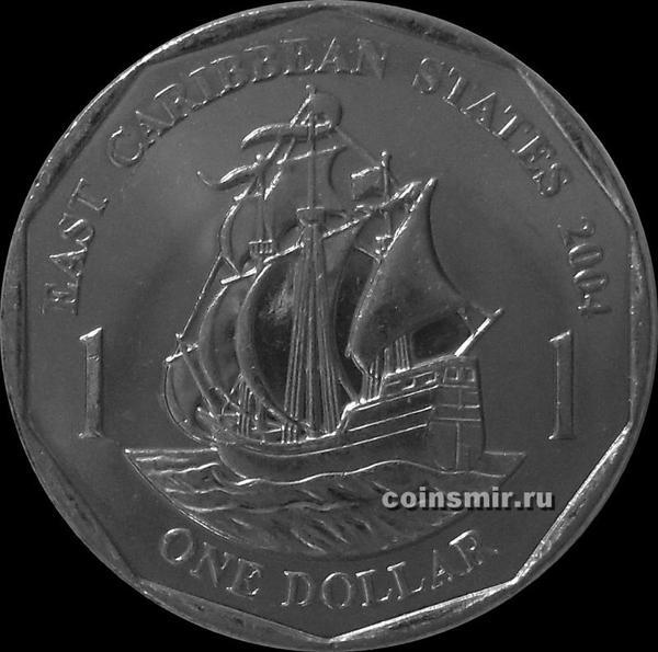 1 доллар 2004 Восточные Карибы.
