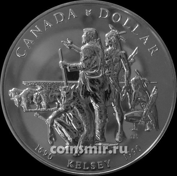 1 доллар 1990 Канада. Генри Келси.