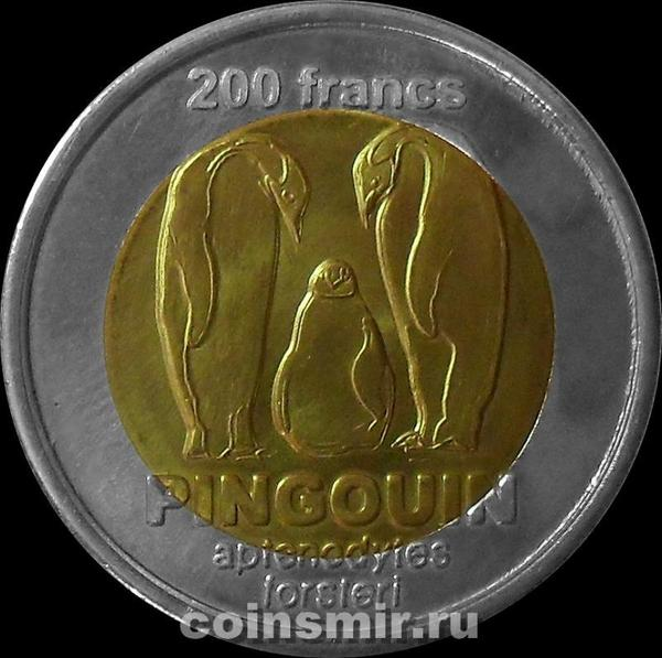200 франков 2011 острова Кергелен. Пингвины.