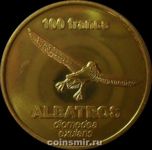 100 франков 2011 острова Крозе. Альбатрос.