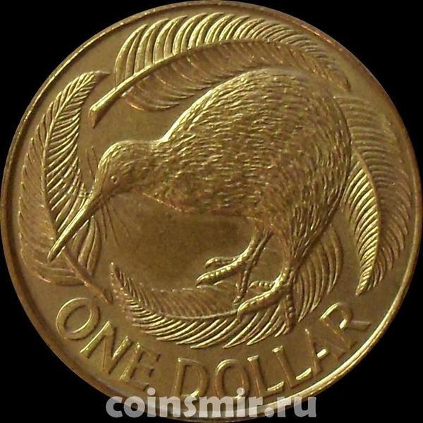1 доллар 1990 Новая Зеландия. Птица киви.