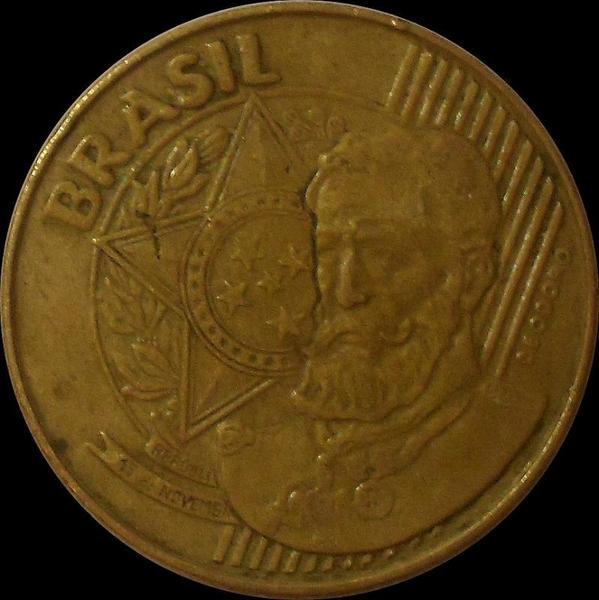 25 сентаво 2002 Бразилия. (в наличии 2010 год)