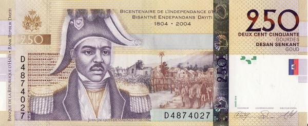 250 гурдов 2010 Гаити. 200 лет независимости Гаити.