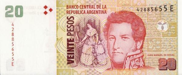 20 песо 2003-2013 Аргентина.