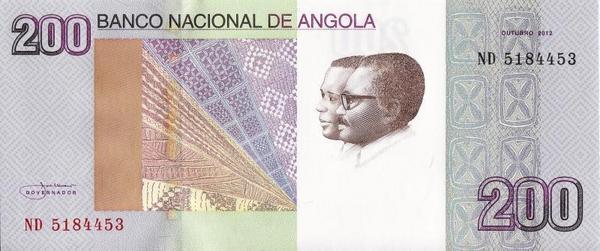 200 кванз 2012 Ангола.