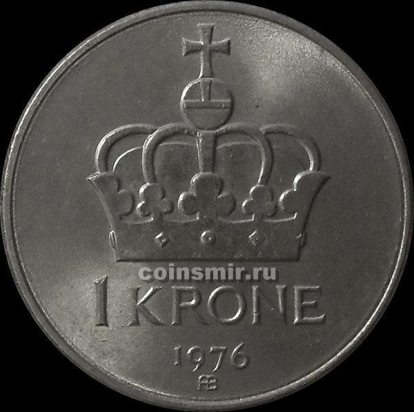 1 крона 1976 Норвегия.