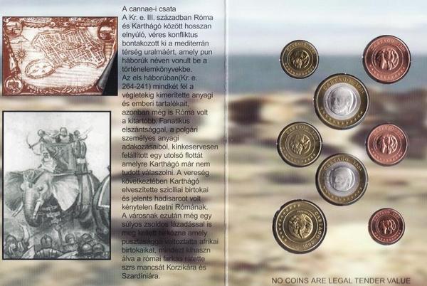 Набор евро монет 2005 Карфаген. Проба. Буклет.